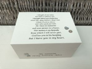 Personalised In Memory Of Box Loved One ~ AUNTIE AUNTY any Name Bereavement Loss - 232741863182
